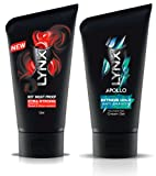 2x Lynx Hair Gel Cream Variety-Apollo,Attract,Hot Night,Extra Strong and Strong