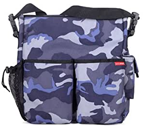 skip hop duo diaper bag blue camo canvas baby. Black Bedroom Furniture Sets. Home Design Ideas