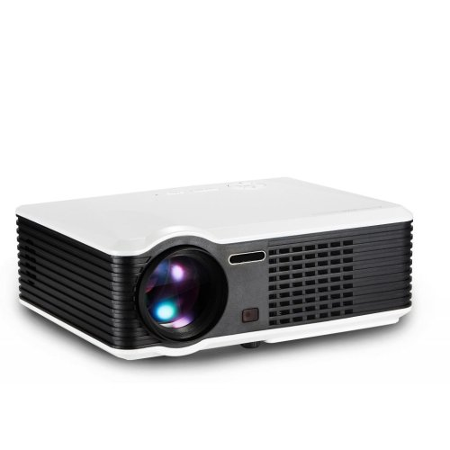 Lightinthebox Prs200 Lcd Projector Wvga 2500Lumens With Hdmi Inputhome Video Movie Theater Mini Projectors, Color=White