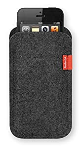Freiwild Sleeve classic grau-meliert (anthrazit) für iPhone 5, 5S & 5C. Filz, Wollfilz, Schutzhülle, Tasche, Case