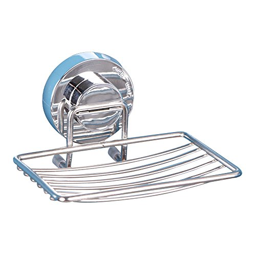 Kaimao Strong Stainless Steel Vacuum Suction Cup Soap Dish Holder with Locking Suction for Bathroom & Kitchen