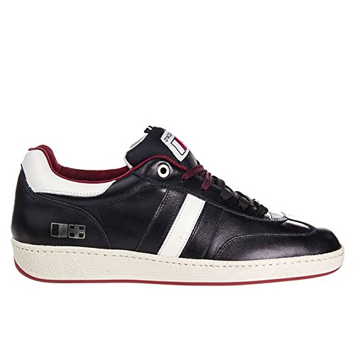 D'Acquasparta Sneaker Uomo Fatta a Mano in Italia Ghiberti Leather Black_42