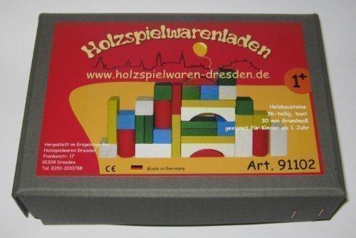 Holzspielwaren-Dresden 91102 Holzbausteine bunt