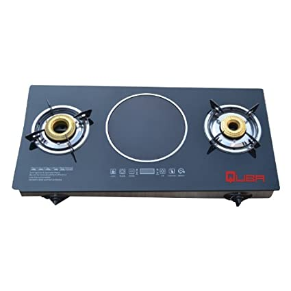 Hybrid 5610 Gas Cooktop With Induction Black (2 Burner)