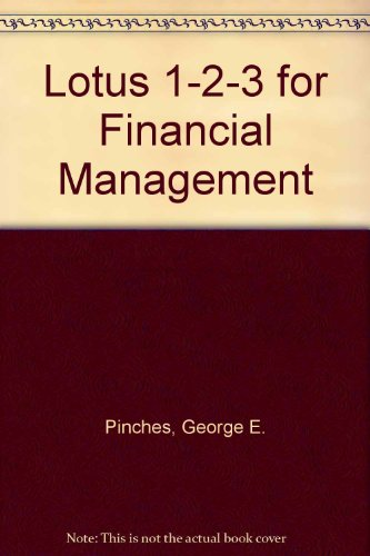 Lotus 1 2 3 for Financial Management/Book and Disk PDF
