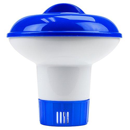 Mini Floating Chlorine Dispenser for 1-inch Tablets by SplashTech (Chlorine Hot Tub Dispenser compare prices)