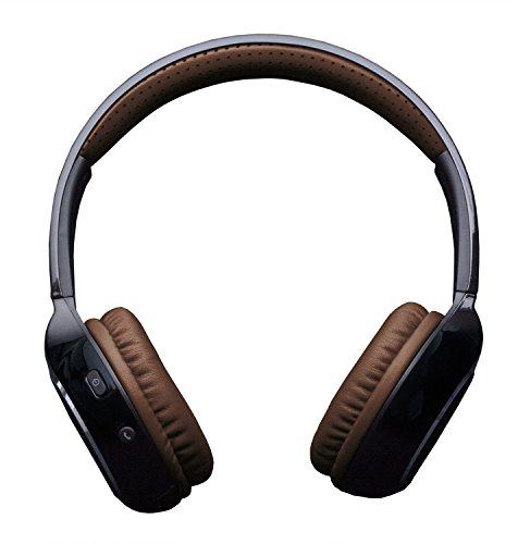 KitSound Arena Universal Bluetooth Over-Ear Headphones with In-Line Microphone Compatible with Smartphones, Tablets and MP3 Devices - Black