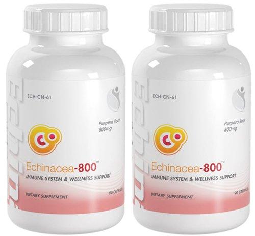 Bionutricals UK Echinacea-800 Immune System & Welness Support Echinacea 800mg 180 Capsules 2 Bottles