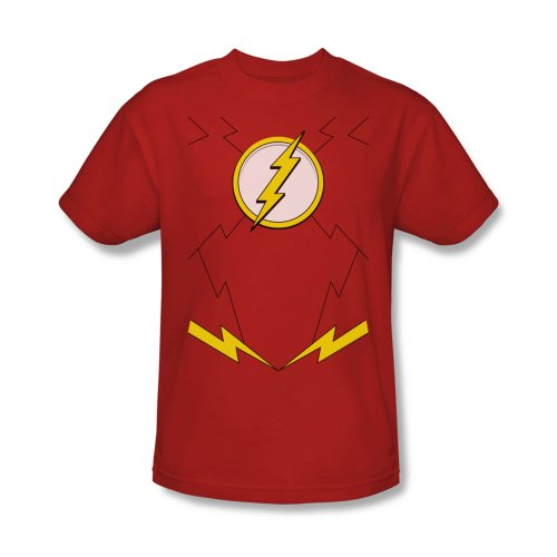 DC Comics Flash Costume Adult Superhero T-Shirt Tee