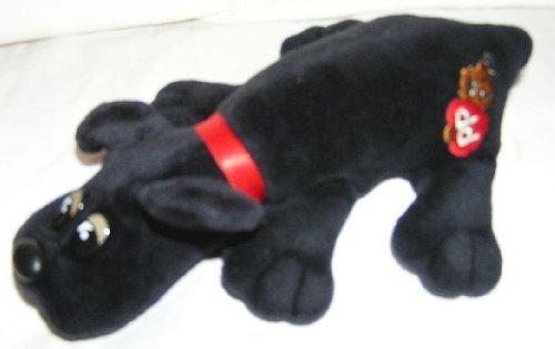 1986-newborn-pound-puppies-plush-75-black-puppy-dog