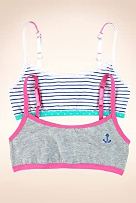 2 Pack - Older Girls' Cotton Rich Assorted Crop Tops