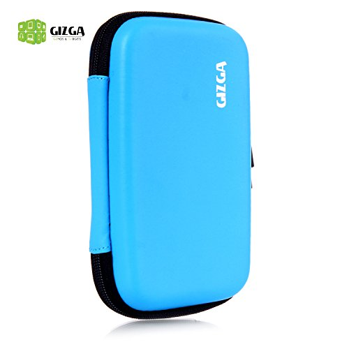 GIZGA Branded 2.5 inch HARD SHELL - Color: Sky Blue; Series External Portable Hard Disk Drive Carry Cover Protector/ Pouch / Bag/HDD Case