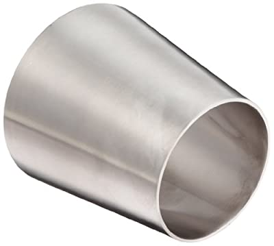Dixon B31W Series Stainless Steel 316L Sanitary Fitting, Polished Weld Concentric Reducer, Tube OD x Tube OD