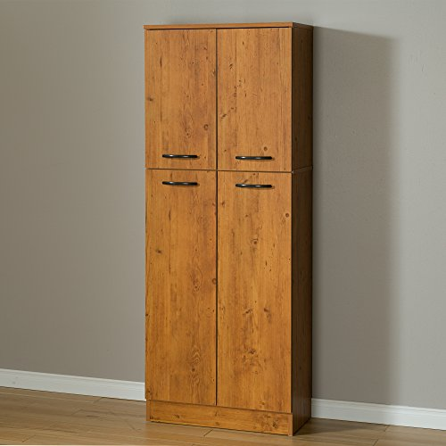 South Shore Axess 4 Door Storage Pantry, Country Pine (Pantry Shelving Unit compare prices)