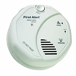 first alert olsmokev smartbridge wireless interconnected smoke alarm with voice and location. Black Bedroom Furniture Sets. Home Design Ideas