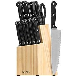 CookDazzle Serie 14-teiliges Messer und Holzblock Set