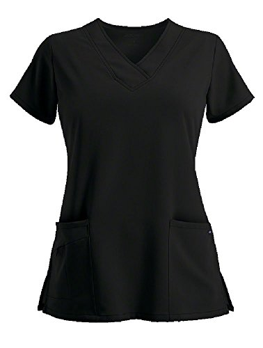 Classic Fit Collection by Jockey Scrubs Women's Tri Blend Solid Scrub Top XXX-Large Black