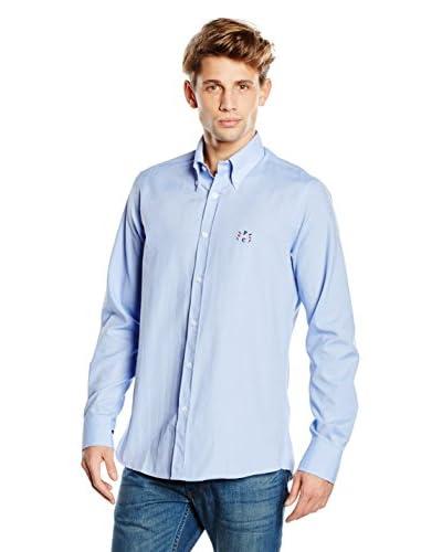 POLO CLUB CAPTAIN HORSE ACADEMY Camisa Hombre Sticks Oxford Azul Celeste