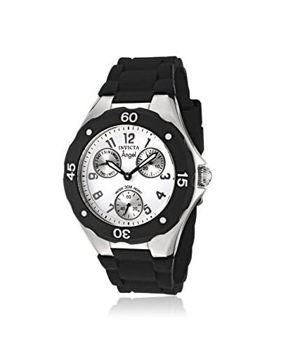 Invicta Women's 0733 Angel Collection Black Polyurethane Watch