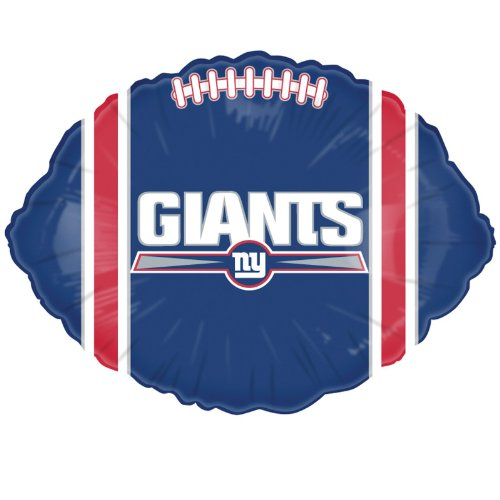 "Anagram International New York Giants Flat Party Balloons, 18"", Multicolor"