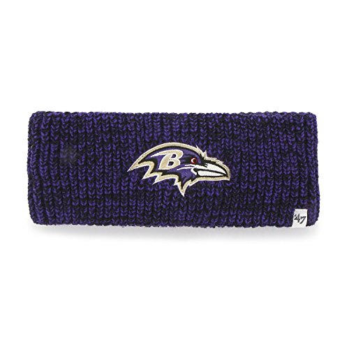 Men's Baltimore Ravens '47 Brand Black Fairfax Cuffed Knit Hat with Pom
