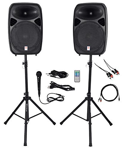 "For Sale! Rockville Dual 15"" iphone/ipad/Android/Laptop/TV Youtube Karaoke Machine/System"