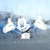 DISNEY White Decal MICKEY MOUSE Car Window Laptop White Sticker