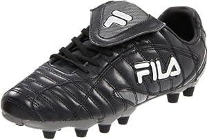 Fila Men's Forza II Soccer Shoe,Black/Metallic Silver/Castlerock,13 M US