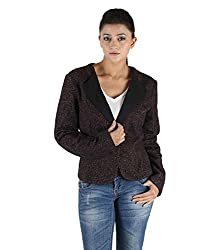 Owncraft Women's Woolen Jacket (Own_58_Maroon _Large)