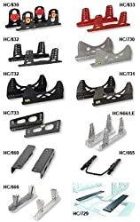 OMP Racing OMP-HC/833E/N Aluminum tall brackets | Black