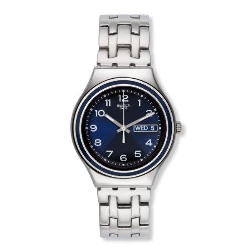 Swatch YGS765G - Orologio da polso unisex, acciaio inox, colore: argento