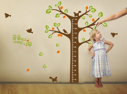 Spectacular WallStickersUSA Wall Sticker Decal Tree Growth Chart with Quote Large