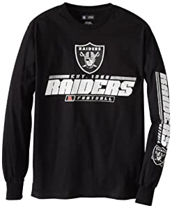 Oakland Raiders Majestic Primary Receiver IV Long Sleeve T-Shirt - Black by VF
