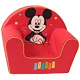 Disney Fauteuil Décor Happy Mickey Mouse Rouge