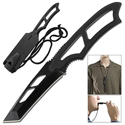 Tactical Warrior Tanto Full Tang Emergency Neck Knife by budk