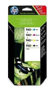 HP 940XL 4er-Pack  schwarz/cyan/magenta/gelb Original Tintenpatronen mit hoher Reichweite