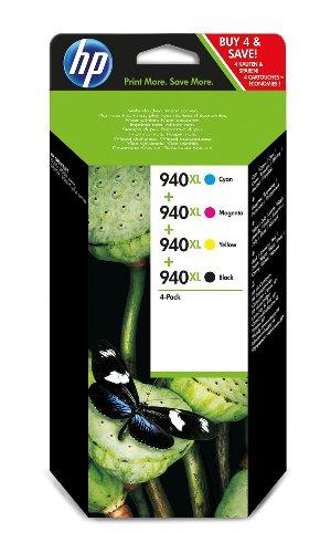 HP Tintenpatronen 940XL, 4-farbig