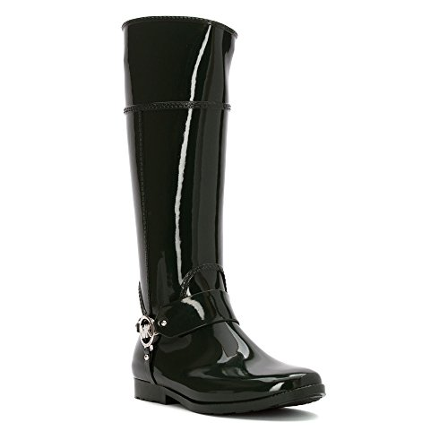 MICHAEL Michael Kors Women's Fulton Harness Tall Rain Boot Hunter Green 9 M (Rain Jackets Michael Kors compare prices)