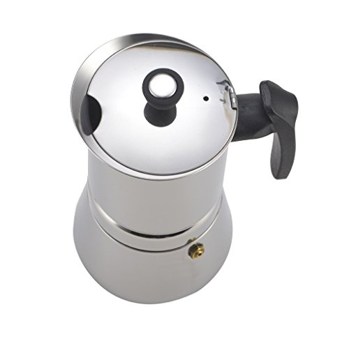 Generic 300 ML, 6 Cup Stainless Steel Moka Espresso Latte Percolator Stovetop Espresso Maker Coffee Maker Pot For Use On Gas Electric And Ceramic Cooktops