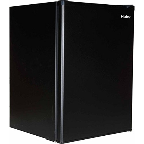 Haier Hc27Sf10Rb 2.7-Cu. Ft. Compact Mini Fridge Refrigerator/Freezer, Black