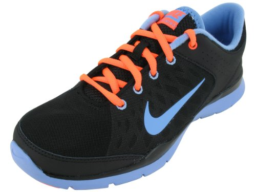 Nike Women's NIKE FLEX TRAINER 3 WMNS TRAINING SHOES 8 Women US (BLACK/LGHT BL/TTL CRMSN/WHITE) Nike Flex