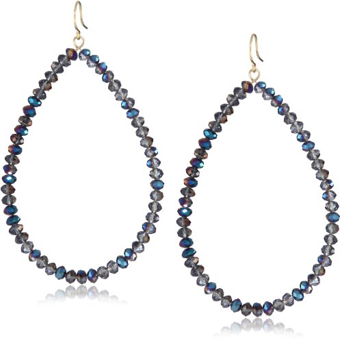 Yochi Blue Faceted Glass Bead Earrings