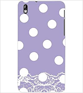 PrintDhaba WHITE CIRCLE PATTERN D-6873 Back Case Cover for HTC DESIRE 816 (Multi-Coloured)