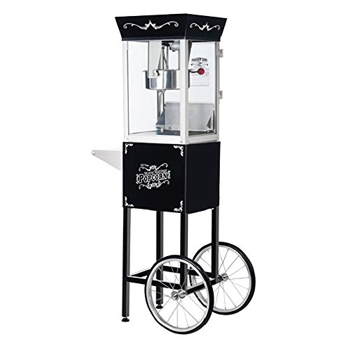 Great Northern Popcorn 6084 Antique Style Popcorn Popper Machine Cart