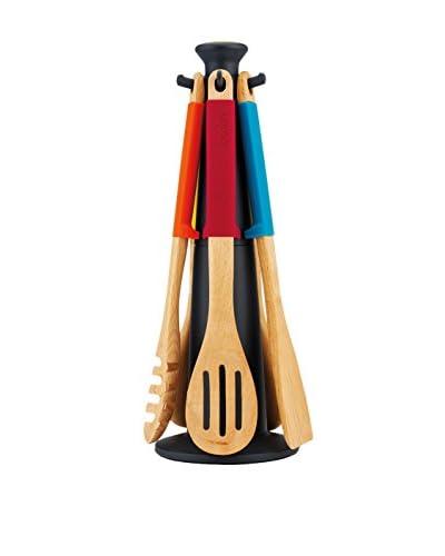 Joseph Joseph Elevate Wood Carousel 6-Piece Set, Multi