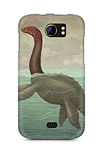 Amez designer printed 3d premium high quality back case cover for Micromax Canvas 2 A110 (Loch ness monster)