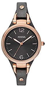 Grey Georgia Three-Hand Leather Watch by Fossil