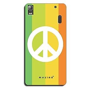 Mozine Rainbow Peace printed mobile back cover for Lenovo a7000