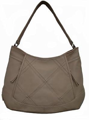 Tignanello Women's Into Pieces Hobo Leather Handbag, Nude