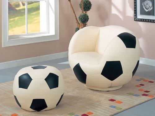 Children Soccer Swivel Chair And Ottoman Sports Set Children Furniture